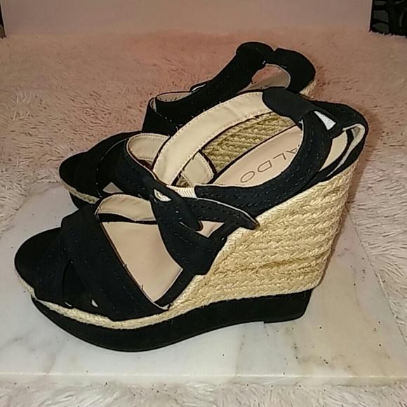 f510138452 Aldo Shoes   Womens Black Suede Wedge Platform Espadrille   Poshmark